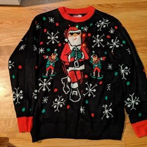Light up mens ugly sweater